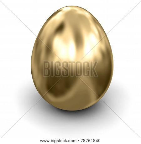 Golden Egg (clipping path included)