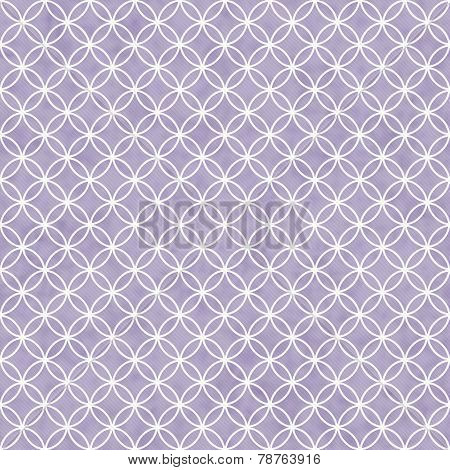 Purple and White Interlocking Circles Tiles Pattern Repeat Background that is seamless and repeats poster
