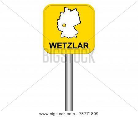 Sign of german city Wetzlar