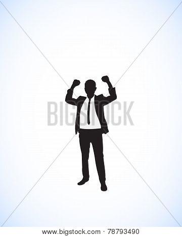 businessman success silhouette