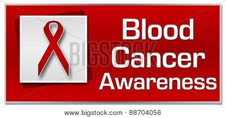 Blood Cancer Awareness Red Ribbon Square