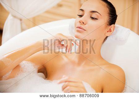 Relaxing In Luxury Bath.