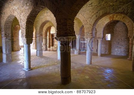 Ruins Of An Ancient Monastery At Almonaster La Real, Huelva, Andalusia, Spain