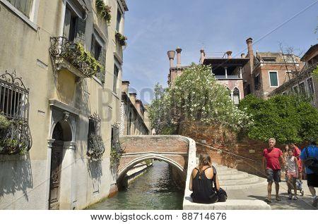 Brick Bridge In Dorsoduro