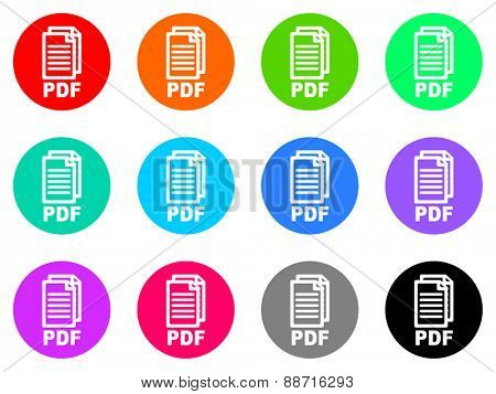 pdf vector icon set