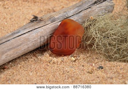 Carnelian On Beach