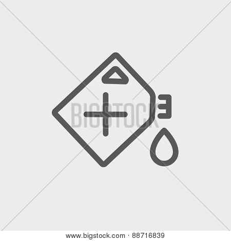 Gas container icon thin line for web and mobile, modern minimalistic flat design. Vector dark grey icon on light grey background. poster