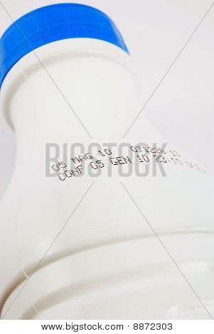 Bottle With An Expiry Date - White Background