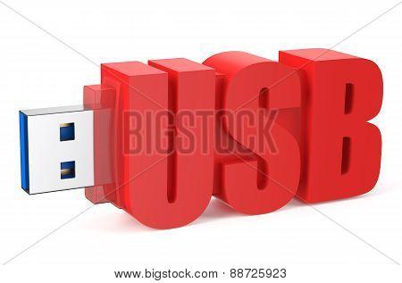 Red Usb Flash Drive Ss 3.0