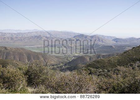 Anza Borrego Desert Landscape of Mountain Range