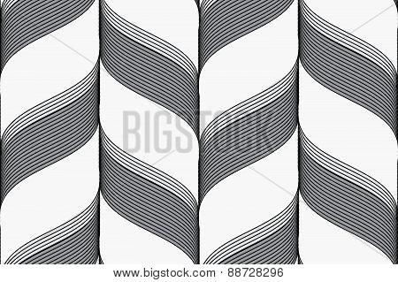 Ribbons In Chevron Pattern