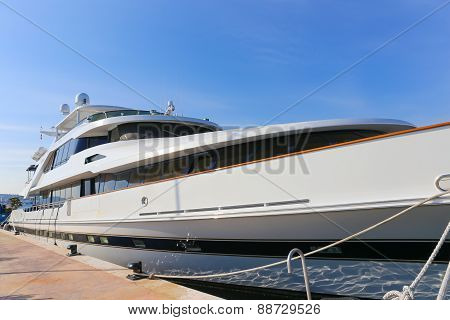 Yacht Anchored In Port Pierre Canto In Cannes