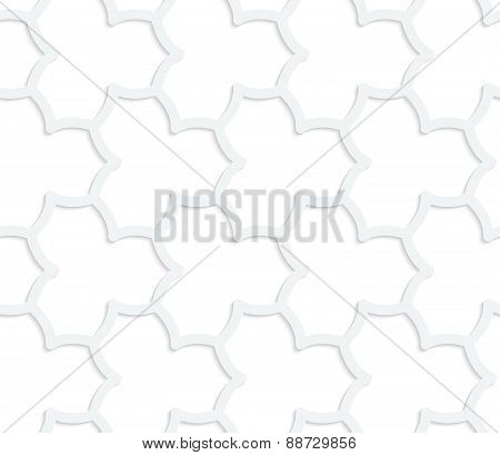 3D White Abstract Geometrical Pointy Flower Grid