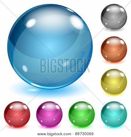 Multicolored Opaque Glass Spheres