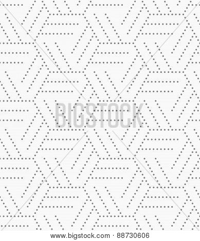 Gray Dotted Hexagons Grid