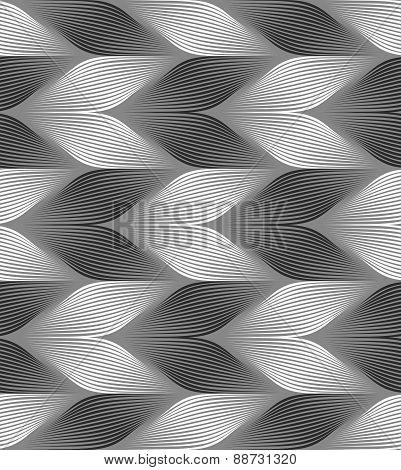 Monochrome Striped Light And Dark Chevron