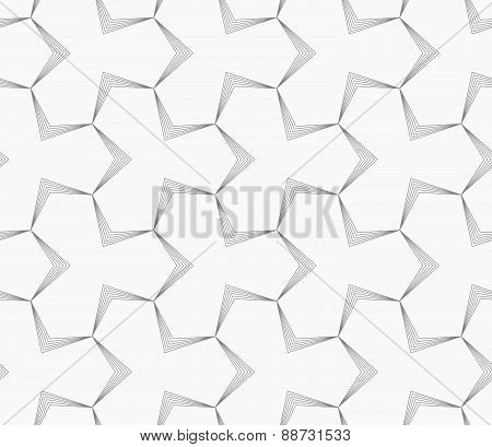 Slim Gray Pointy Tetrapods With Striped Bevel
