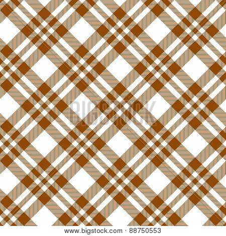 Checkered Tablecloths Pattern Brown - Endless