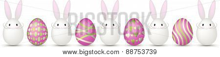 easter eggs with easter bunnies