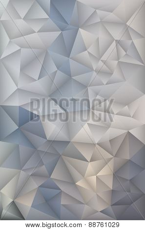 Polygonal Triangles Design Vector Geometric Background Pattern.