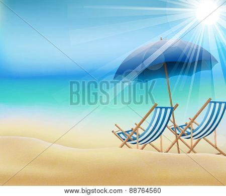 Daytime of summer on beach