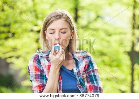 Inhaling
