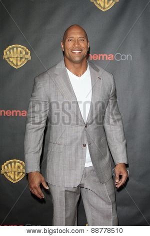 LAS VEGAS - APR 21: Dwayne Johnson at the Warner Bros. Pictures Exclusive Presentation Highlighting the Summer of 2015 and Beyond at Caesars Pallace on April 21, 2015 in Las Vegas, NV