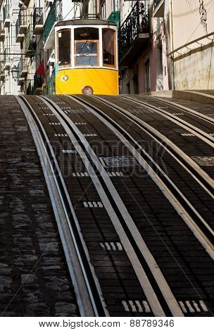 Lisbon Tram In Bairro Alto District, Lisbon.