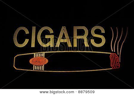Cigar Neon Sign With Icon