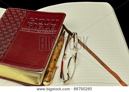 Bible Personal Journal Pen Glassesl