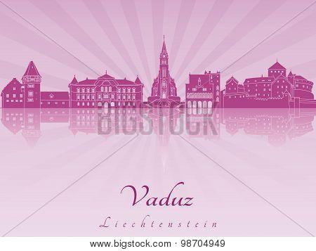 Vaduz Skyline In Purple Radiant Orchid
