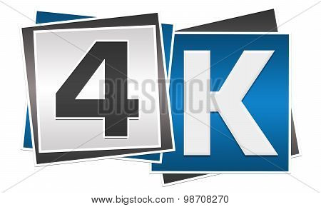4K Blue Grey Blocks