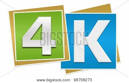 4K Green Blue Blocks
