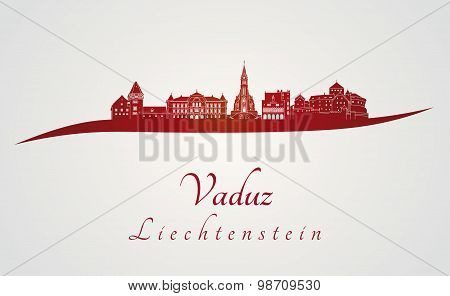 Vaduz Skyline In Red