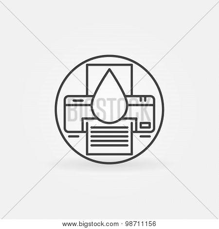 Cartridge refill logo
