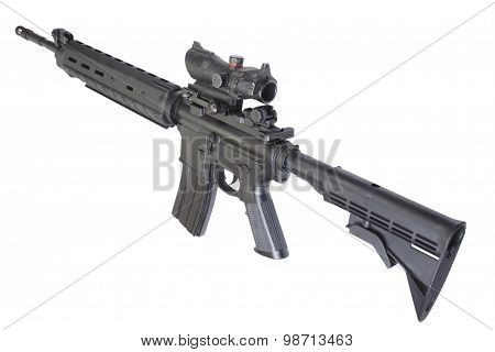 Sniper Rifle With Bipod
