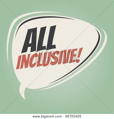 all inclusive retro speech balloon