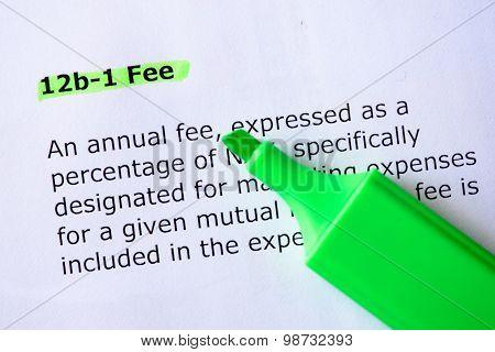 12B-1 Fee