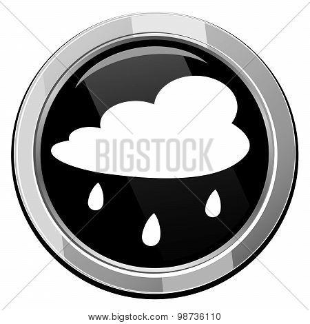 Rain Cloud - Vector Icon Isolated