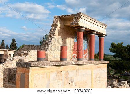 Knossos Archaeological Monument Crete Greece