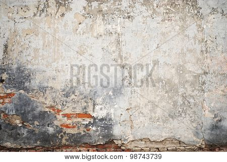grunge cracked brick stucco wall
