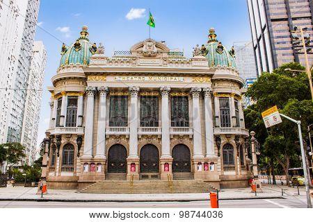 Opera House (Teatro Municipal) in Rio de Janeiro, Brazil ,  Latin America.