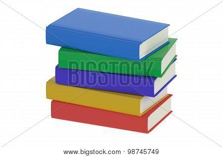 Heap Of Multicolored Books