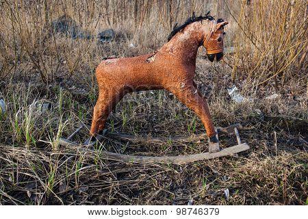 Old Thrown Away Rocking Horse