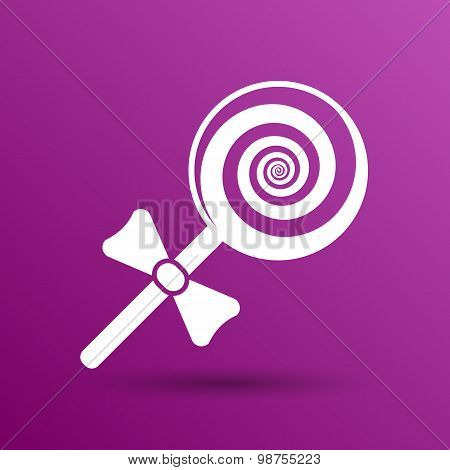candy lollipop logo symbol icon graphic vector. poster