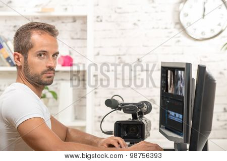 young man Video Editor