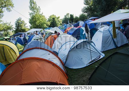 Camp Site Of Exit Festival 2015