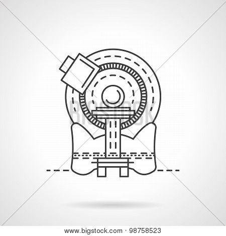 CT scanner line vector icon