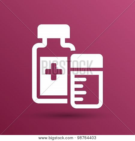 Natural medication medicament antibiotics icon vector illustration. poster