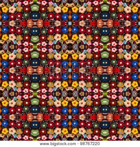 Pin Flowers Seamless Pattern Background
